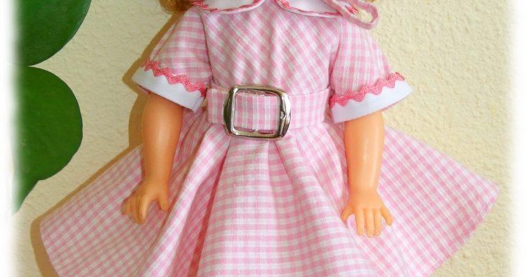 Tenue Coline pour poupées Meadow Dolls 28 cm ou Shirley Temple