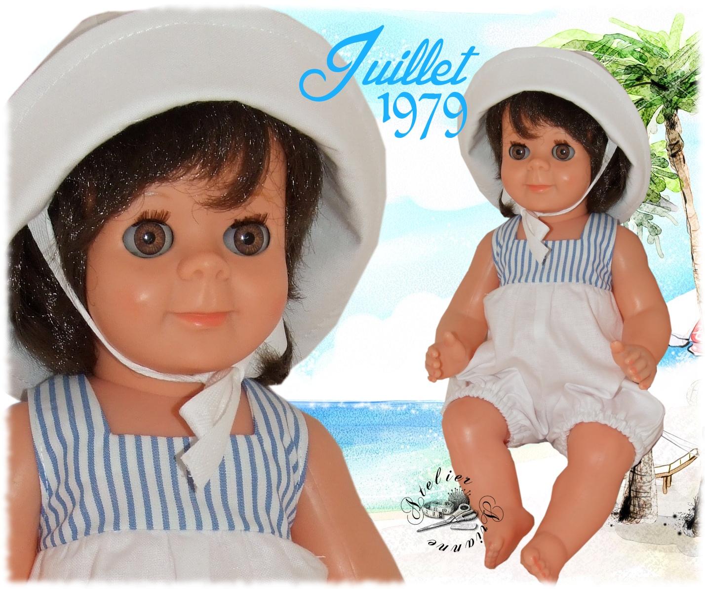 Tenue pour poupée Michel Modes et Travaux Juillet 1979