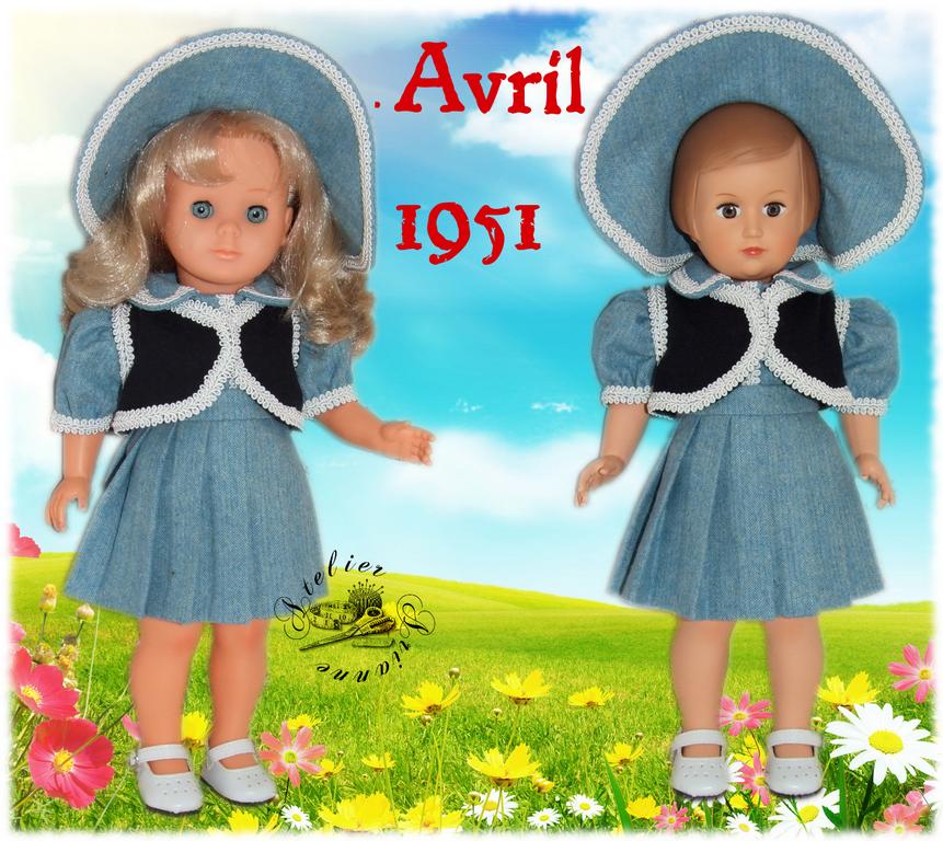 Tenue Françoise Avril 1951, Modes et Travaux