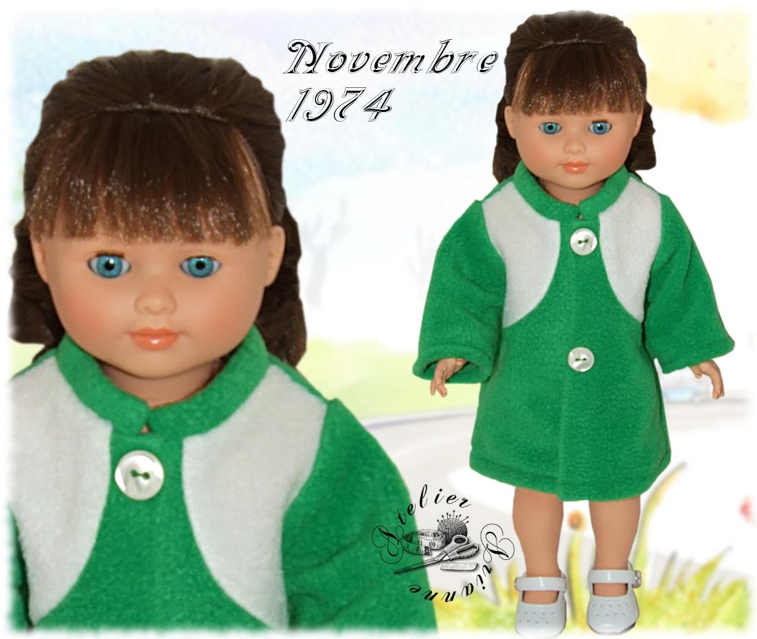 Tenue Modes et Travaux pour Marie Françoise Novembre 1974