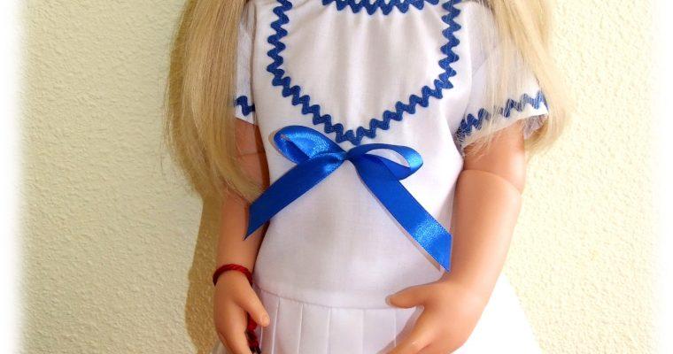 Tenue Clara pour poupées Raynal, Gotz, American girl, Journey Girl 48-50 cm
