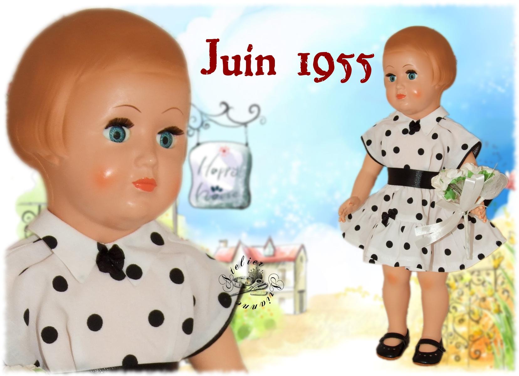 Tenue Modes et Travaux pour Françoise Juin 1955