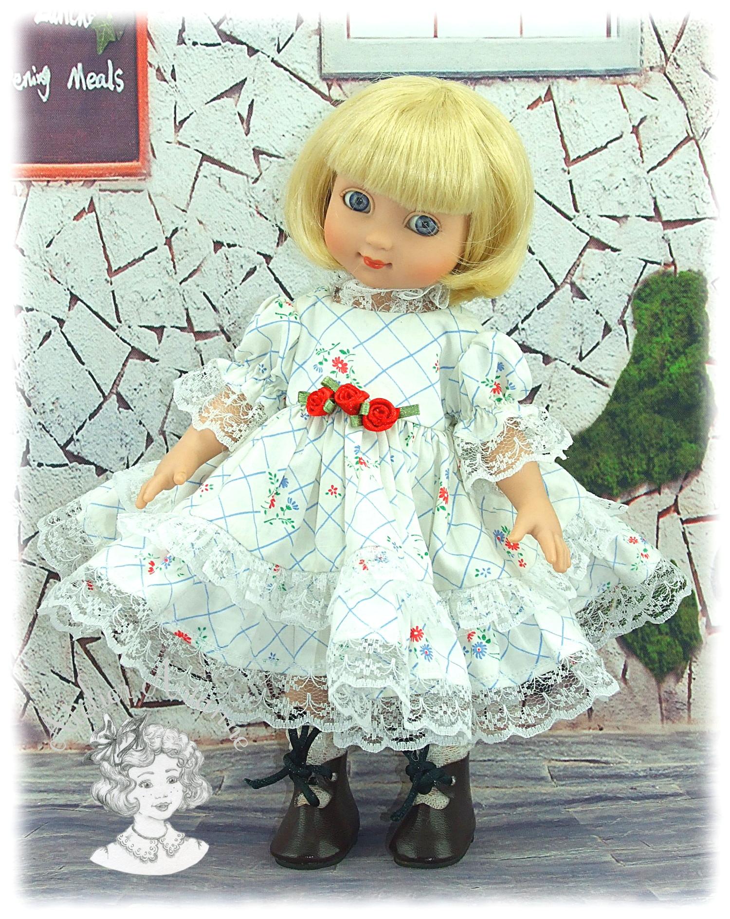 Pélagie – Tenue pour poupée Ann-Estelle et autres poupettes de 23-28 cm