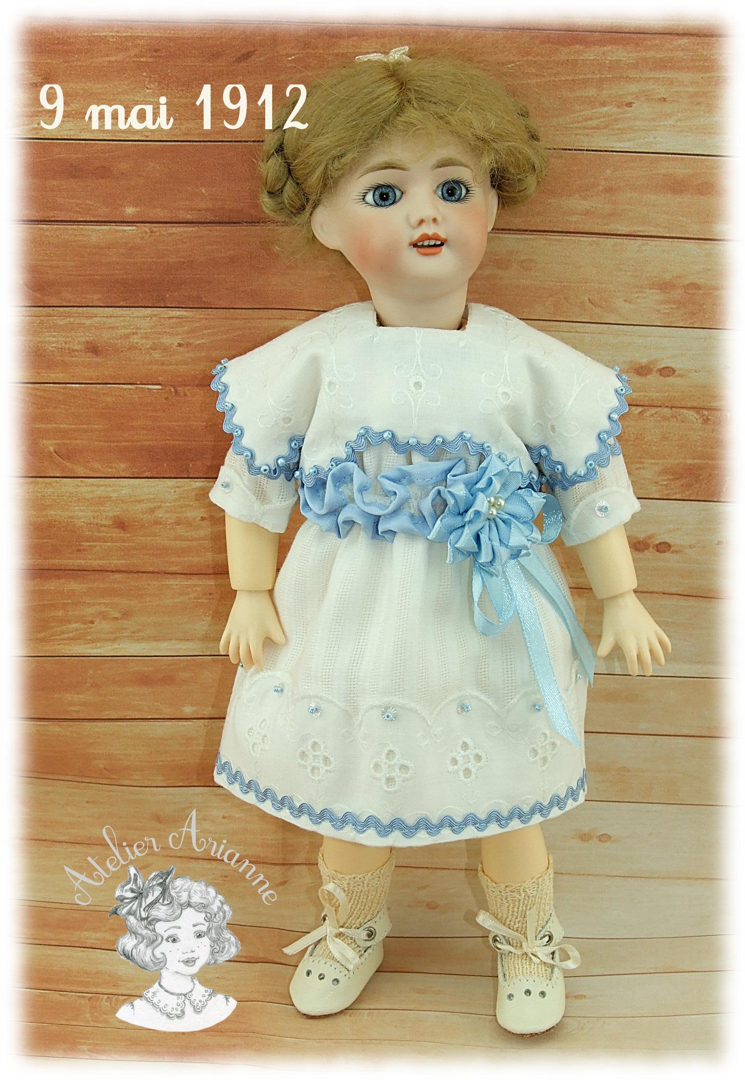 Reproduction de tenue pour poupée Bleuette – 9 mai 1912
