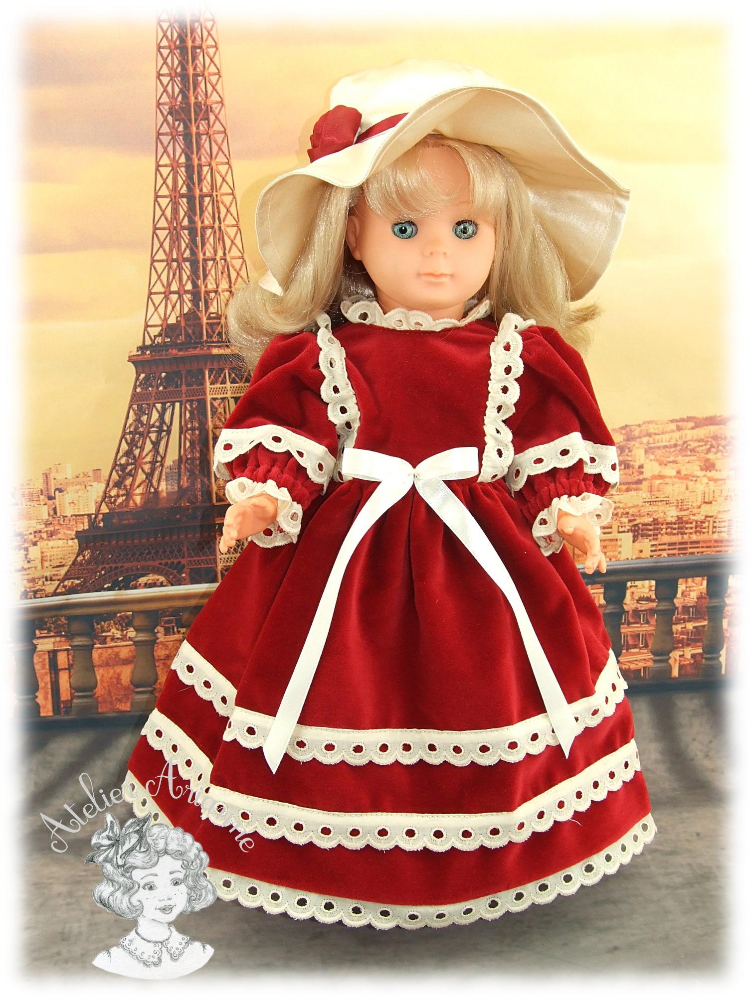Adèle tenue pour poupée Marie-Françoise de Modes et Travaux