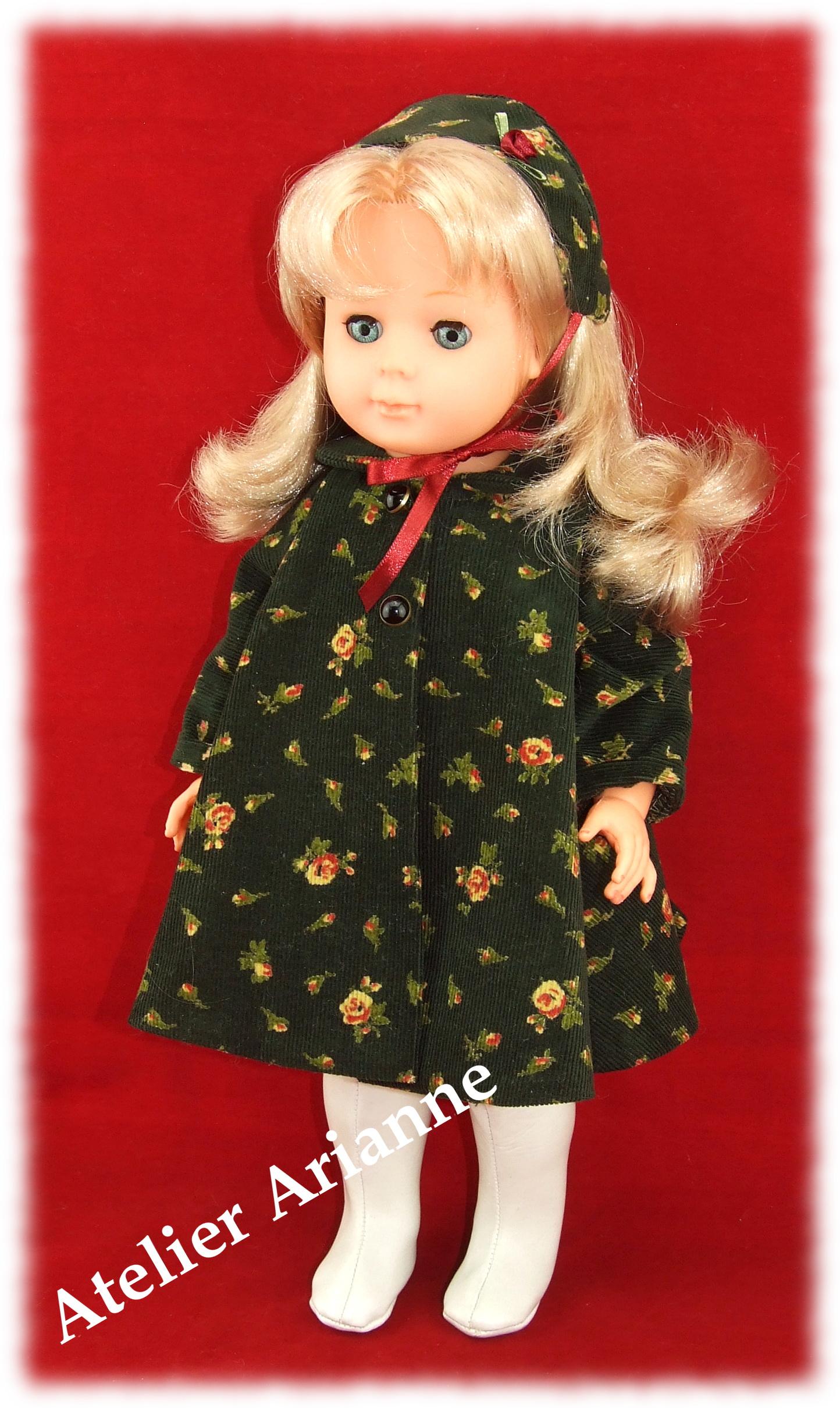 Tenue Apolline pour poupées de Modes et Travaux