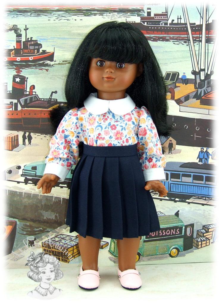 Chemise à manches bouffantes pour poupées de Modes et Travaux