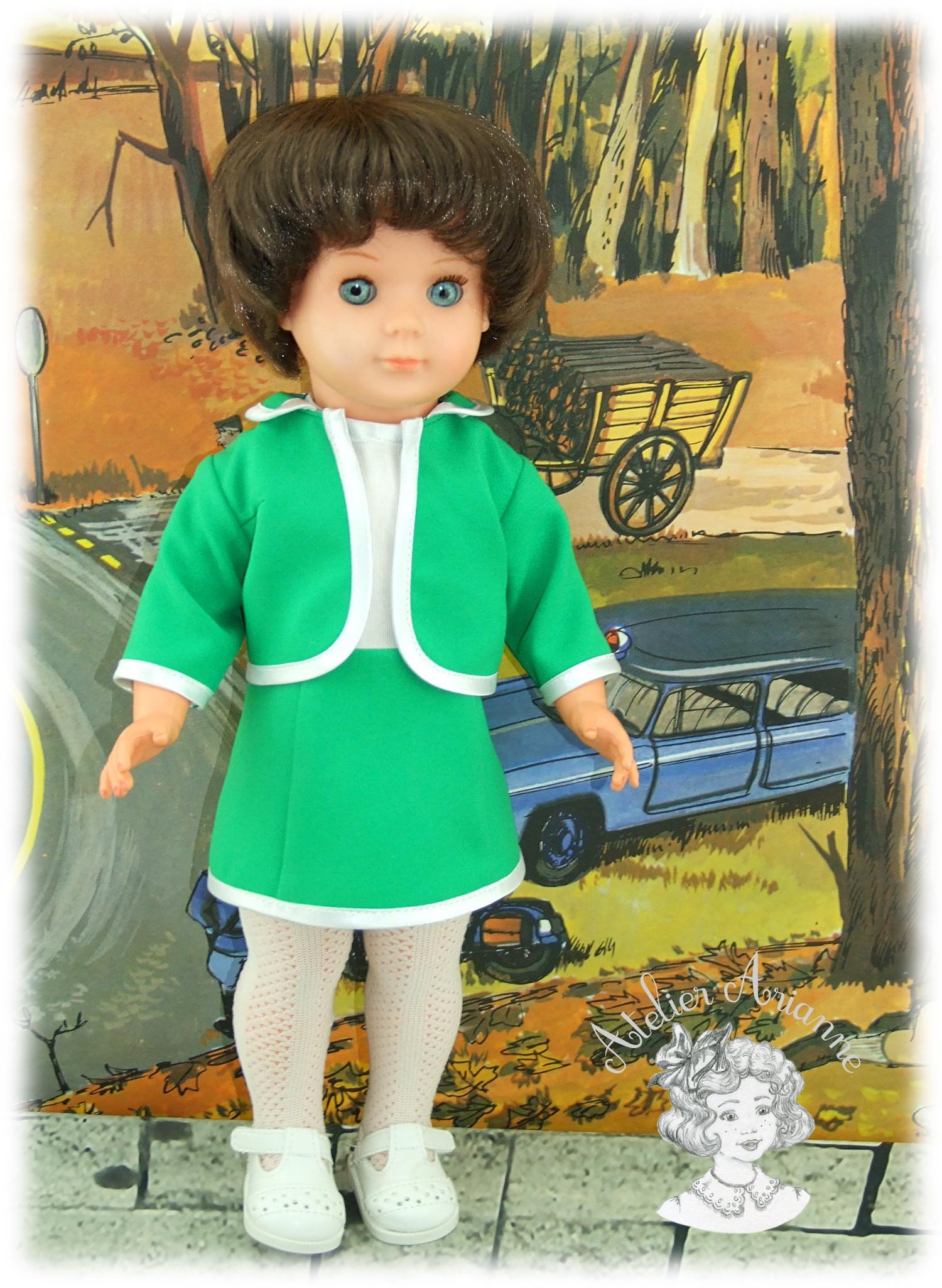 Tenue pour poupée Françoise et Marie-Françoise Modes et Travaux Mai 1966