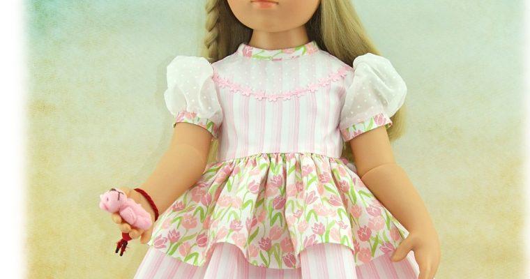 """Pièce unique – tenue Anna de la série """"Les Parisettes"""" pour poupée Gotz"""