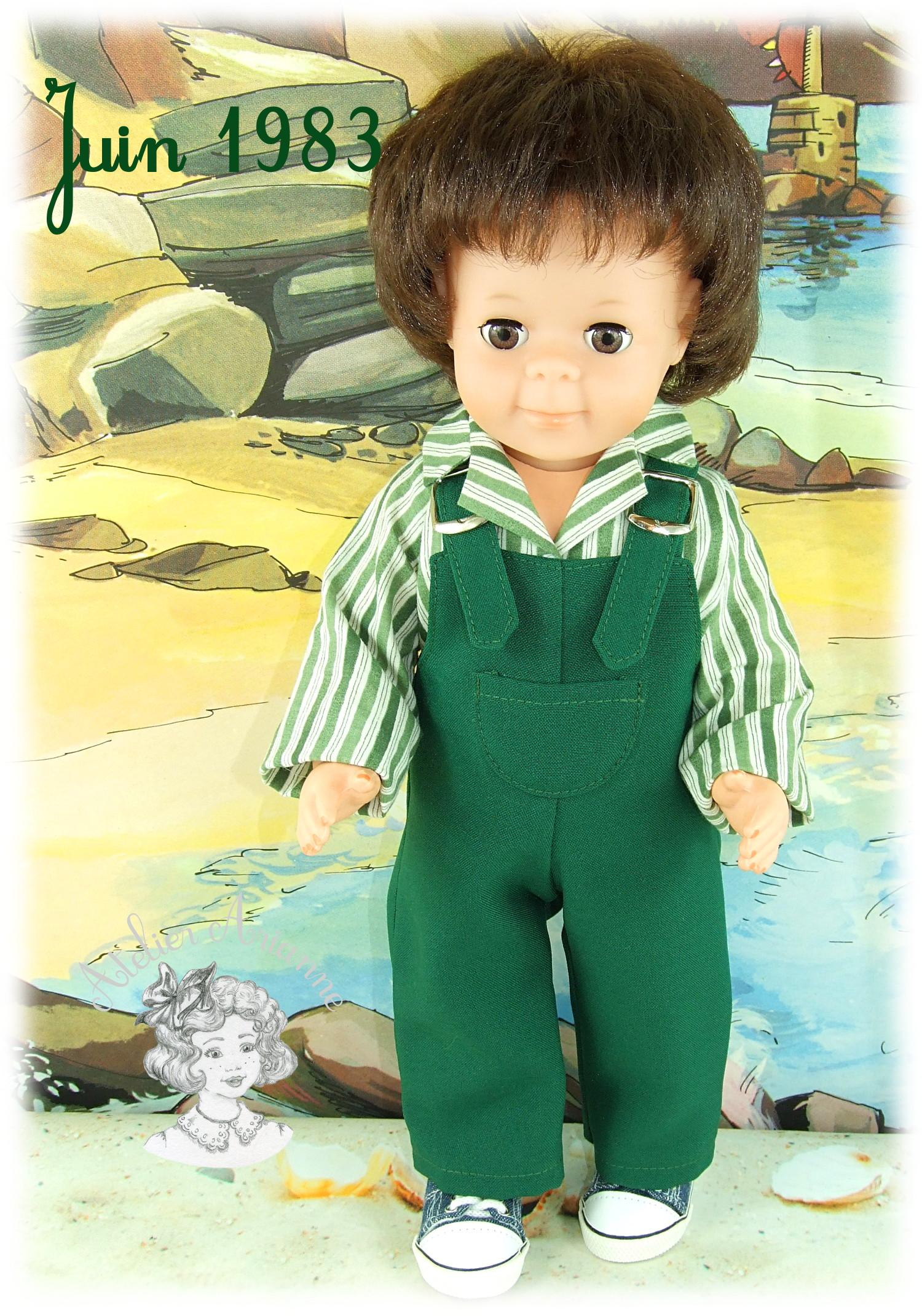 Juin 1983 – Tenue pour poupée Jean-Michel de Modes et Travaux