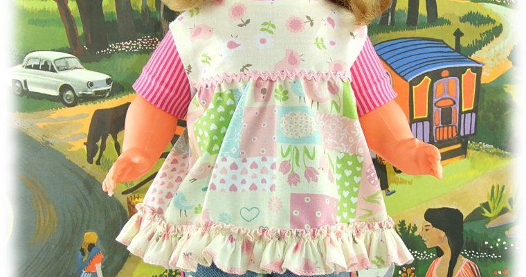 Sarah- tenue d'après une illustration de Sarah Kay pour poupée GéGé