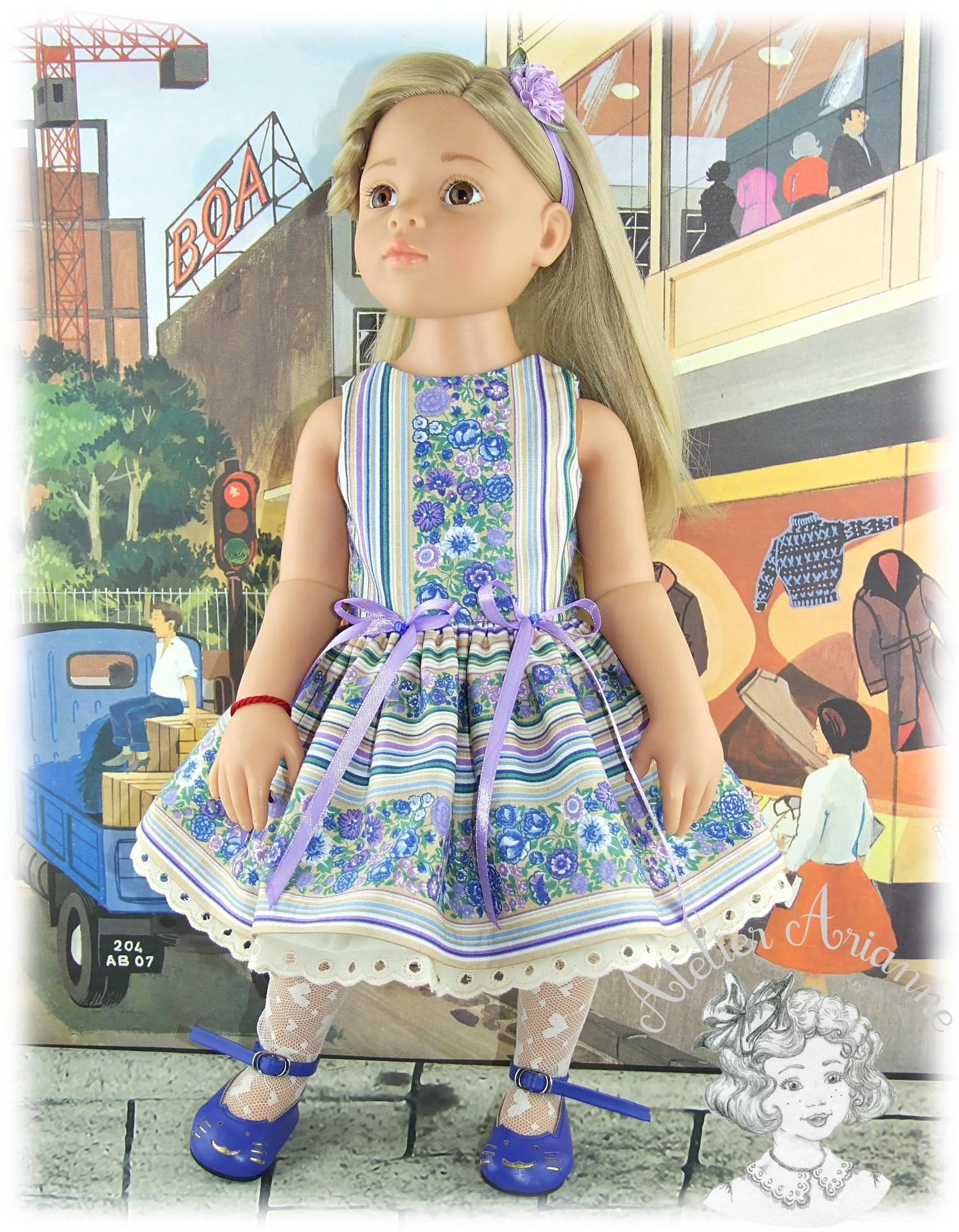 Violaine – robe et bandeau pour poupée Götz