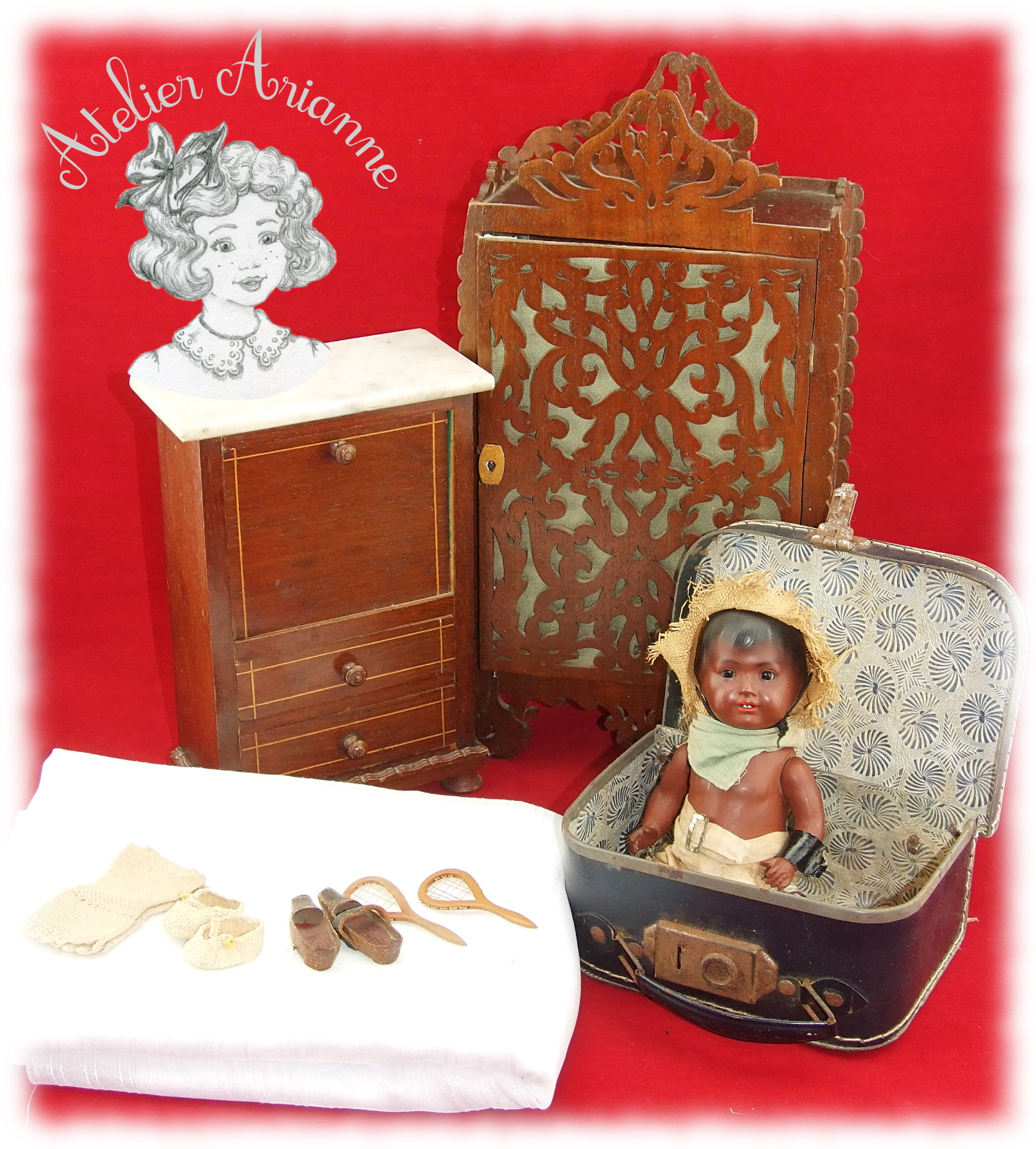 Splendides objets d'exposition offerts par Brigitte