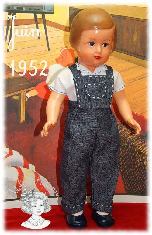 Tenue pour poupée Françoise Modes et Travaux Juin 1952