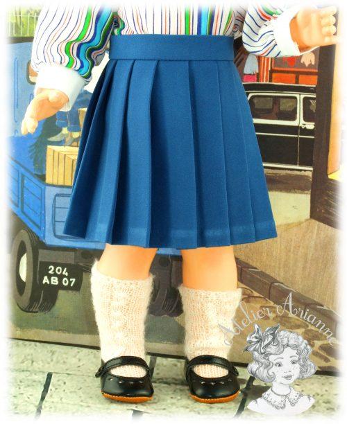 Jupe plissée pour poupée Marie-Françoise