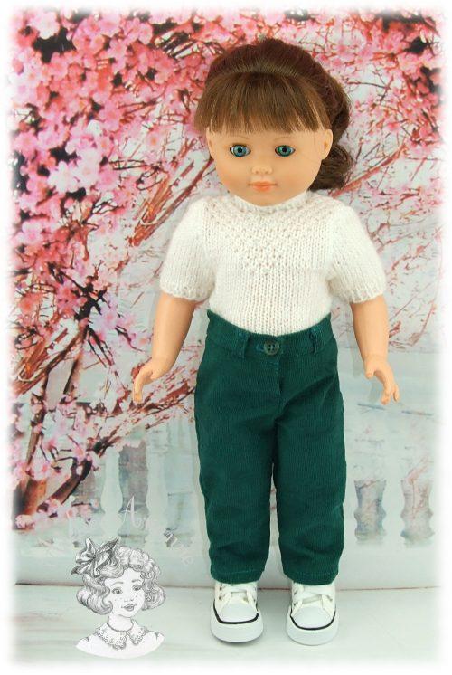 Pantalon pour poupée Françoise de Modes et Travaux