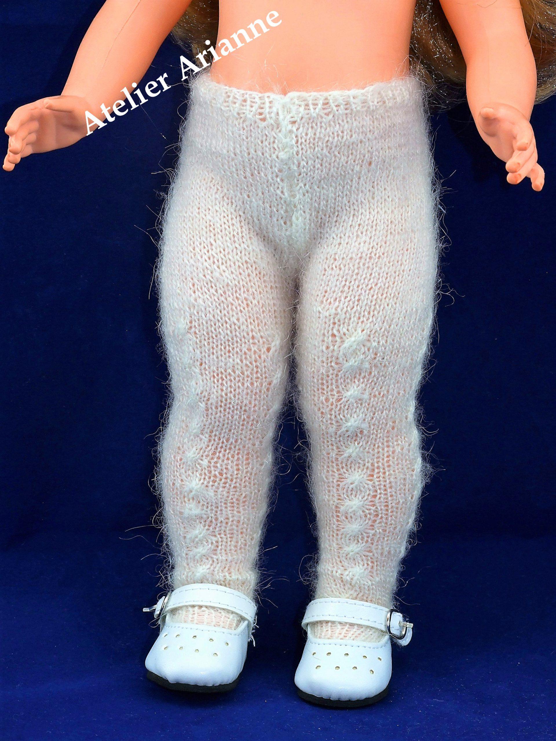 Collant tricoté pour poupée Marie-Françoise de Modes et Travaux