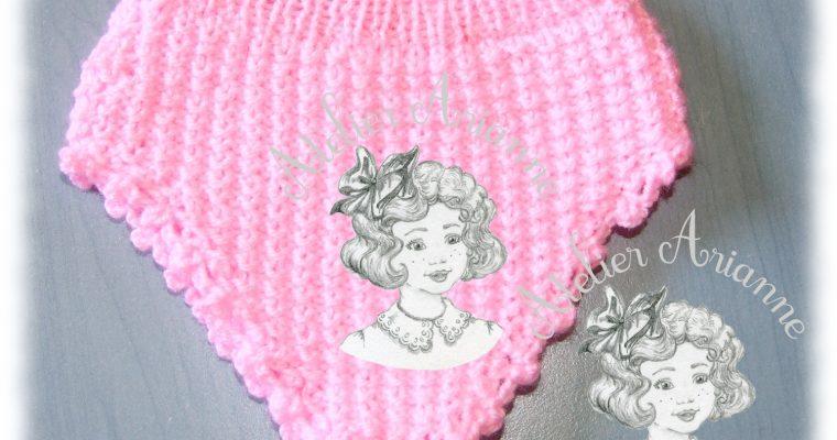 Culotte rose pour poupée 50-55 cm