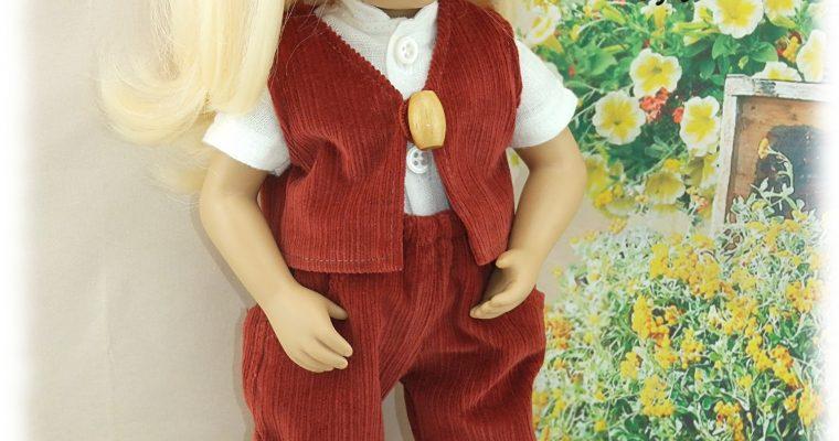 Edward -Tenue pour poupée Minouche de Petitcollin (garçon)