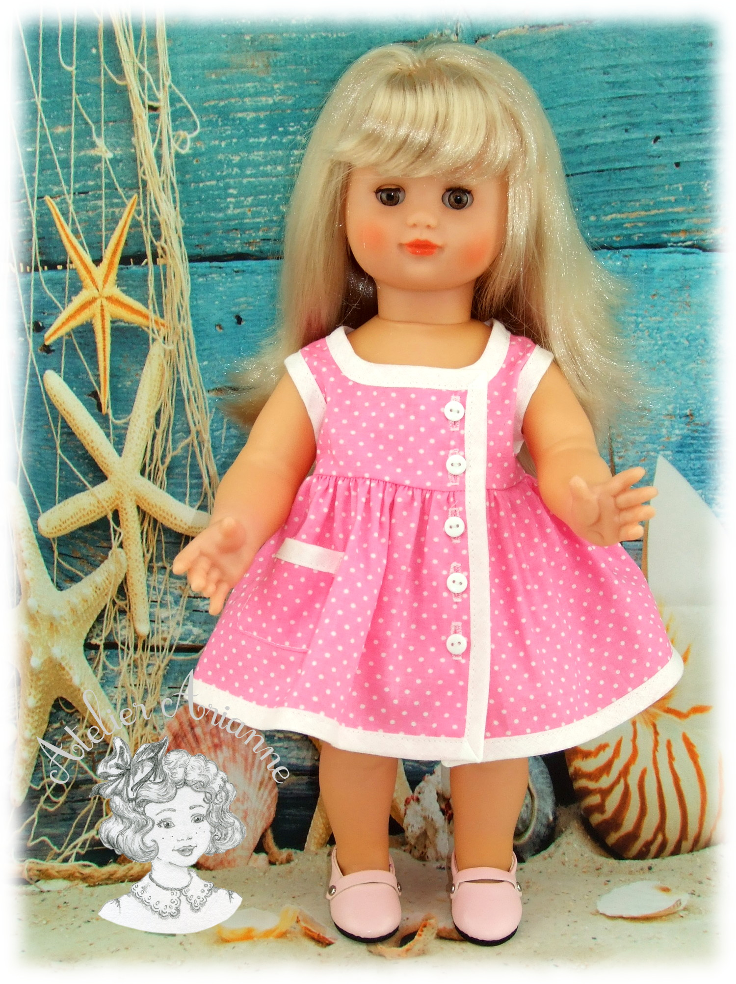 Robe – Juillet 1961 Tenue pour poupée Émilie Modes et Travaux