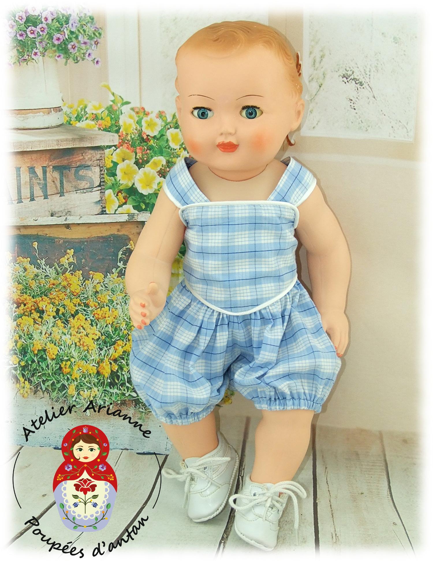 Tenue pour poupée Michel  Modes et Travaux Juillet 1961