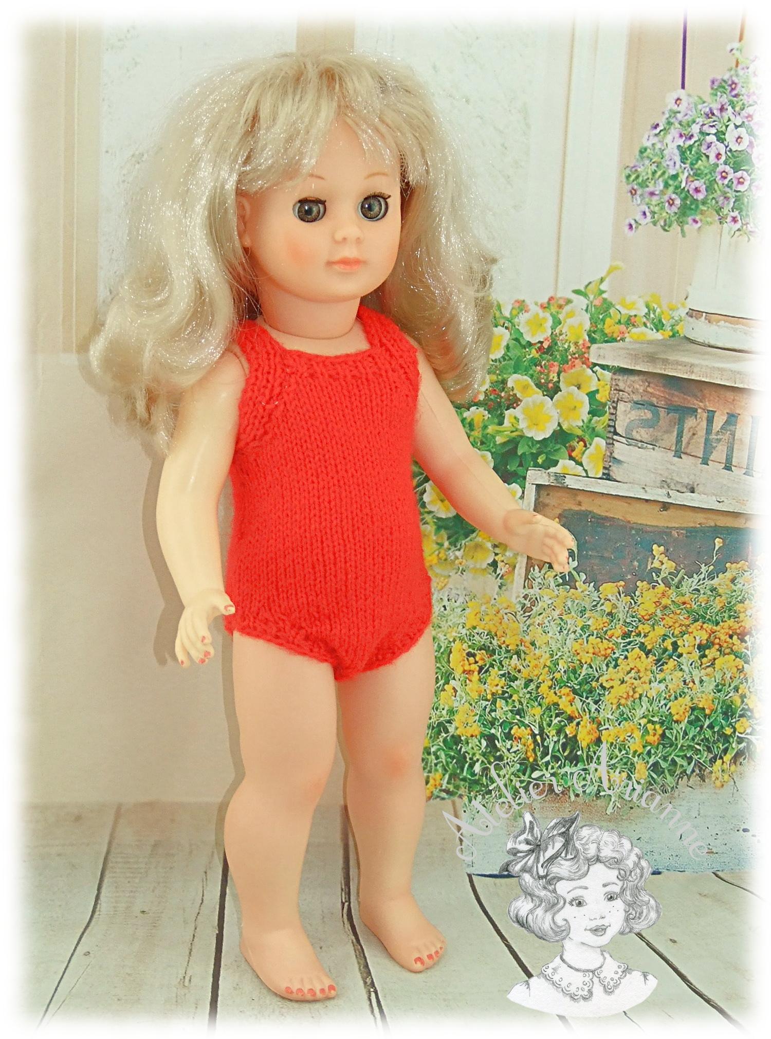 Tenue pour poupée Marie-Françoise de Modes et Travaux Juillet 1974