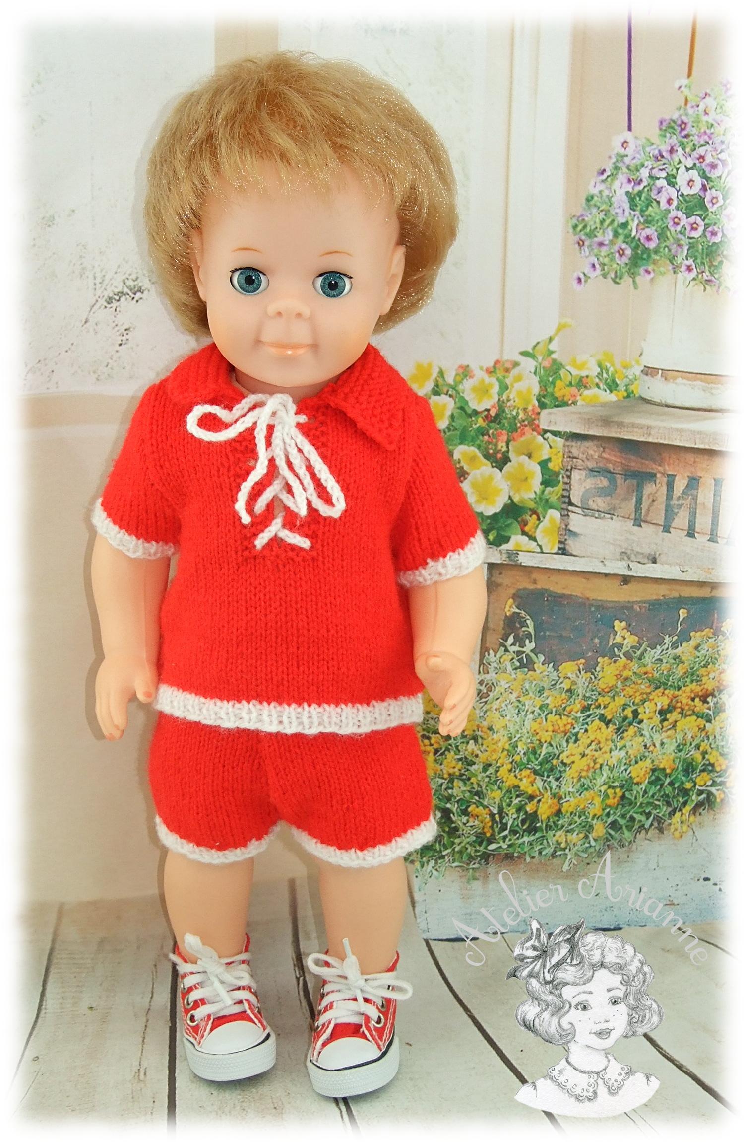 Tenue pour poupée Jean-Michel Modes et Travaux Mai 1977