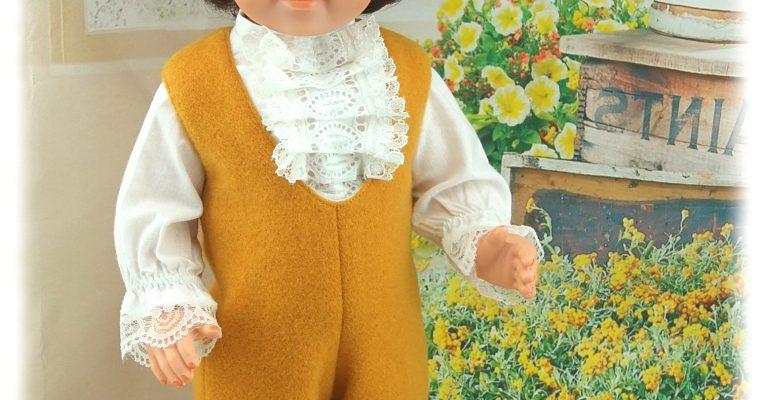 Tenue Octobre 1971 pour poupées Modes et Travaux Jean-Michel