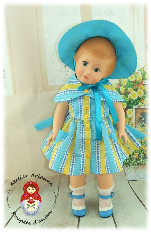 Tenue poupée Modes et Travaux pour Françoise Juillet 1954