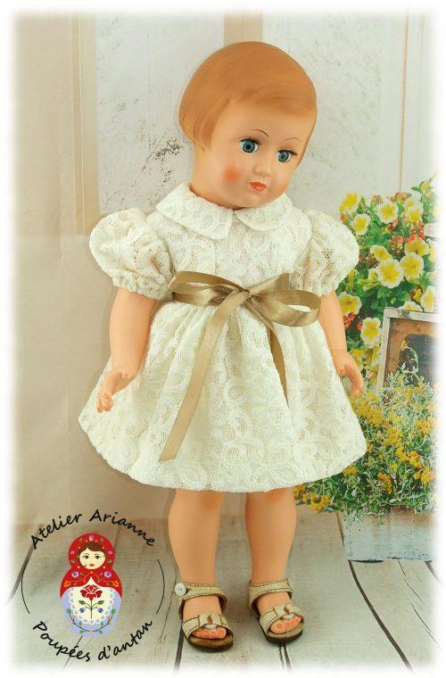 Tenue pour poupée Françoise , Francette de Modes et Travaux Juin 1958