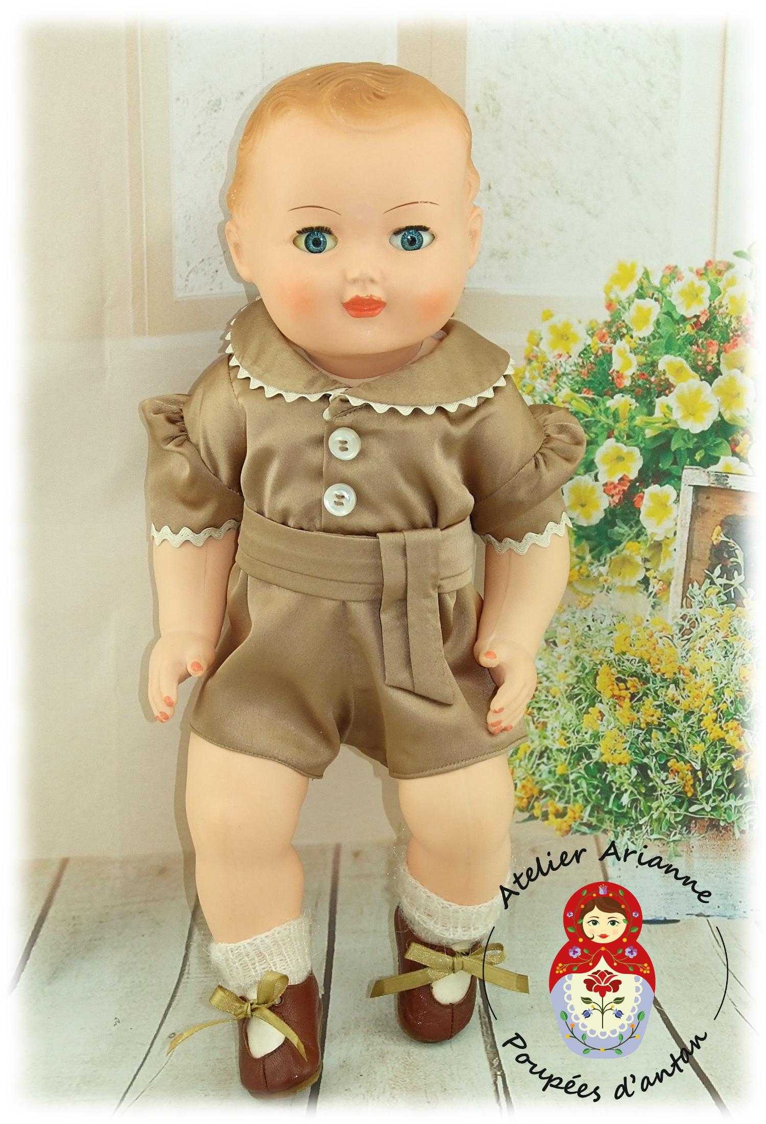 Tenue pour poupée Michel de Modes et Travaux Juin 1958