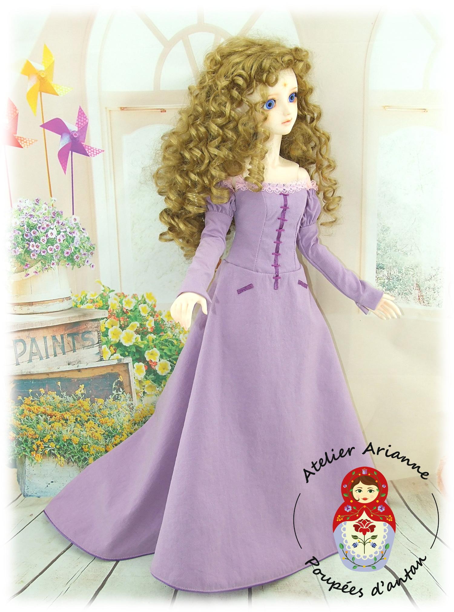 LADY AMALTHEA – reproduction – Tenue exclusive pour poupée BJD 60 cm