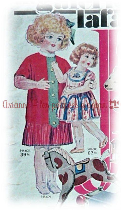 GALERIES LAFAYETTE -1926 : LA MODE POUR LES ENFANTS ET LES POUPÉES DURANT LES ANNEES FOLLES