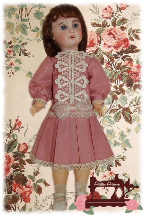 Tenue Adela pour poupée Jumeau
