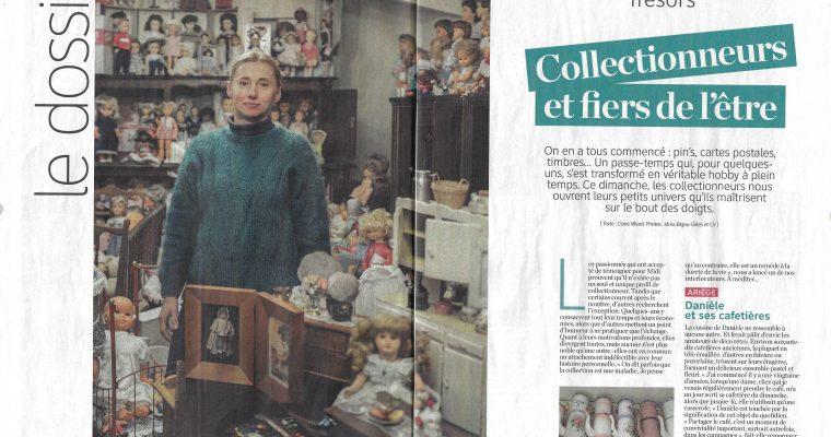 """Notre association et musée ont été honorés par l'article """"Passions et collections"""" du journal Midi"""