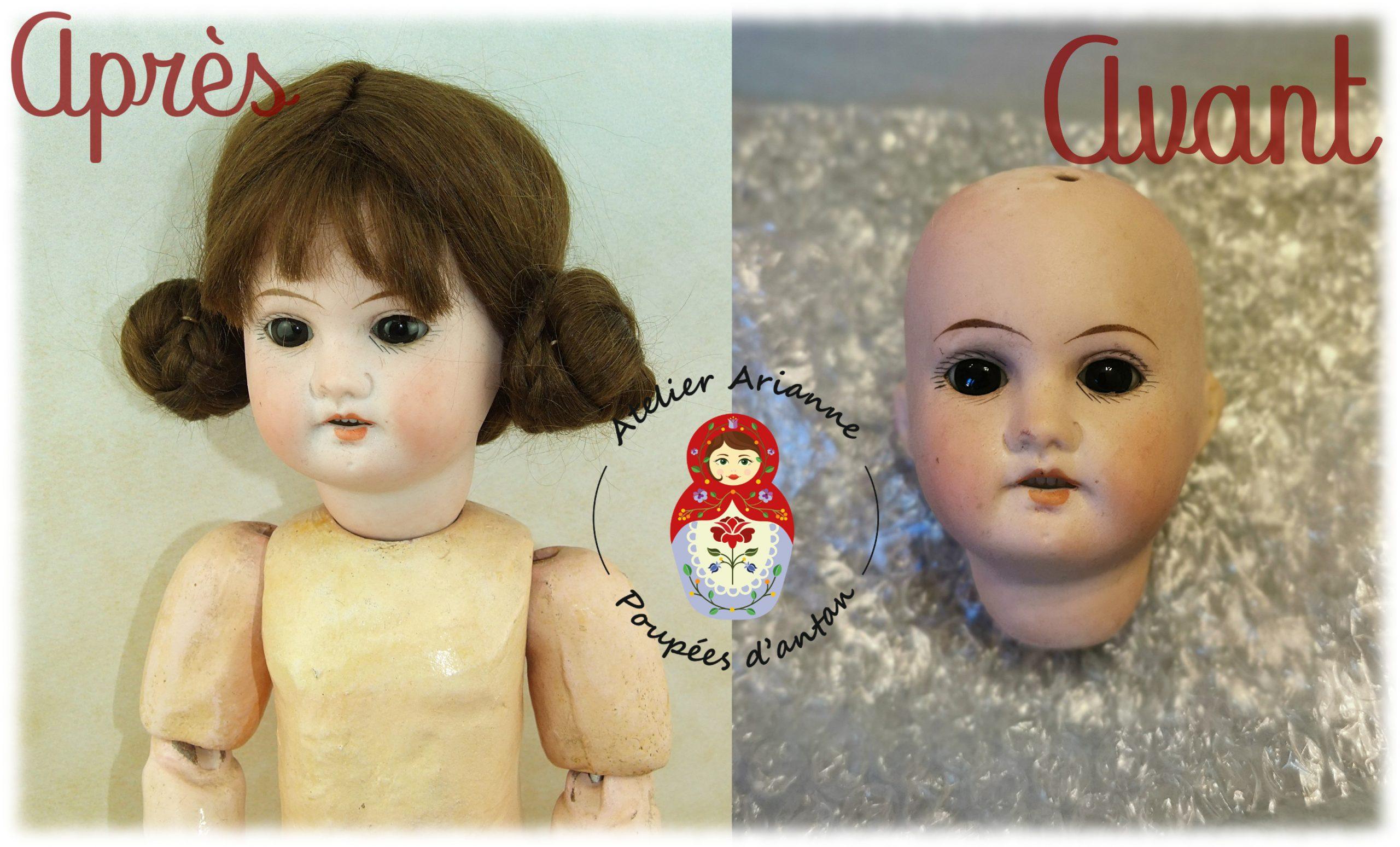 Clinique des poupées – restauration d'une poupée Theodor Recknagel 1907 R/A DEP