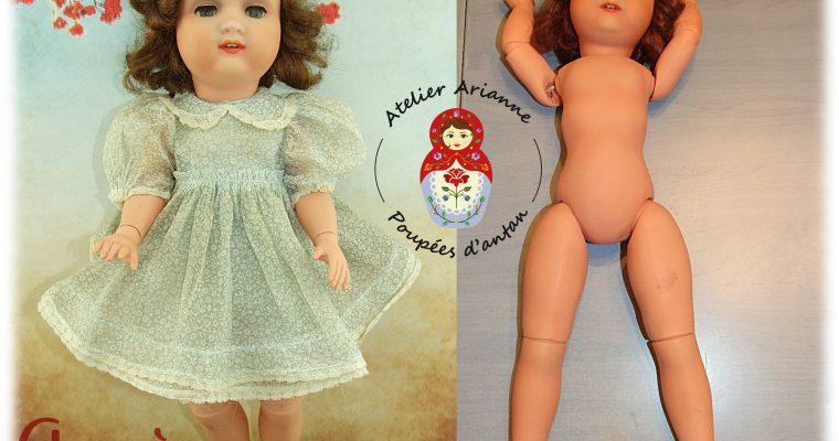 Clinique de poupées: RESTAURATION D'UNE RARE POUPÉE REYU