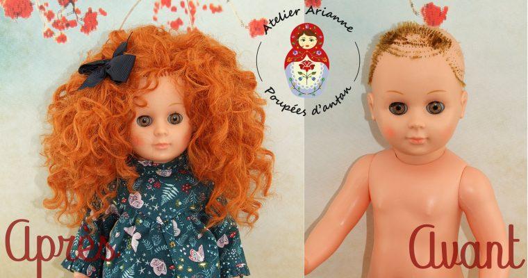Clinique des poupées – LA RÉIMPLANTATION DES CHEVEUX POUR UNE MARIE-FRANÇOISE D'EXCEPTION