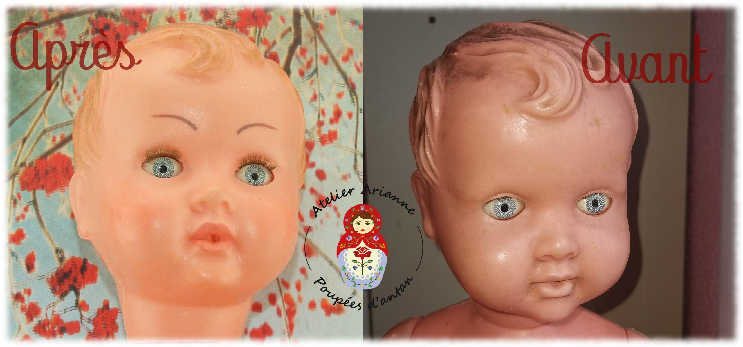 Clinique des poupées-la restauration d'un baigneur de 60cm
