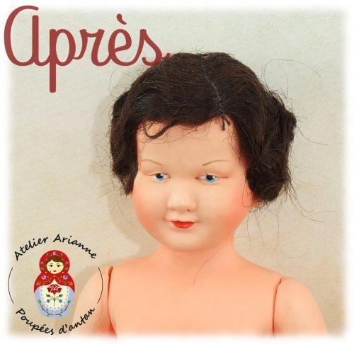Clinique des poupées –  la petite demoiselle de Petitcollin 27 cm
