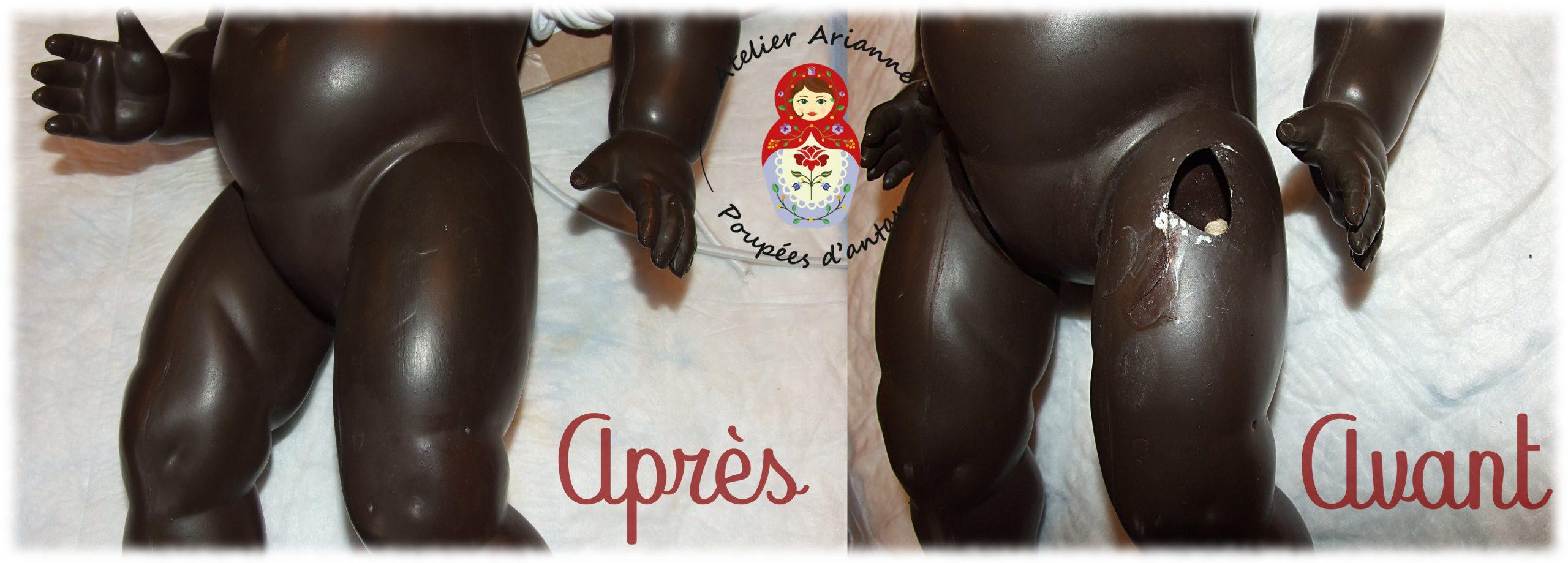 Clinique des poupées – une réparation de celluloïd