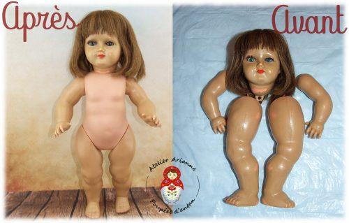 Clinique de poupées –  la restauration d'une Bella en rhodoïd