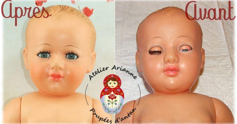 Clinique de poupées – un superbe baigneur Petitcollin