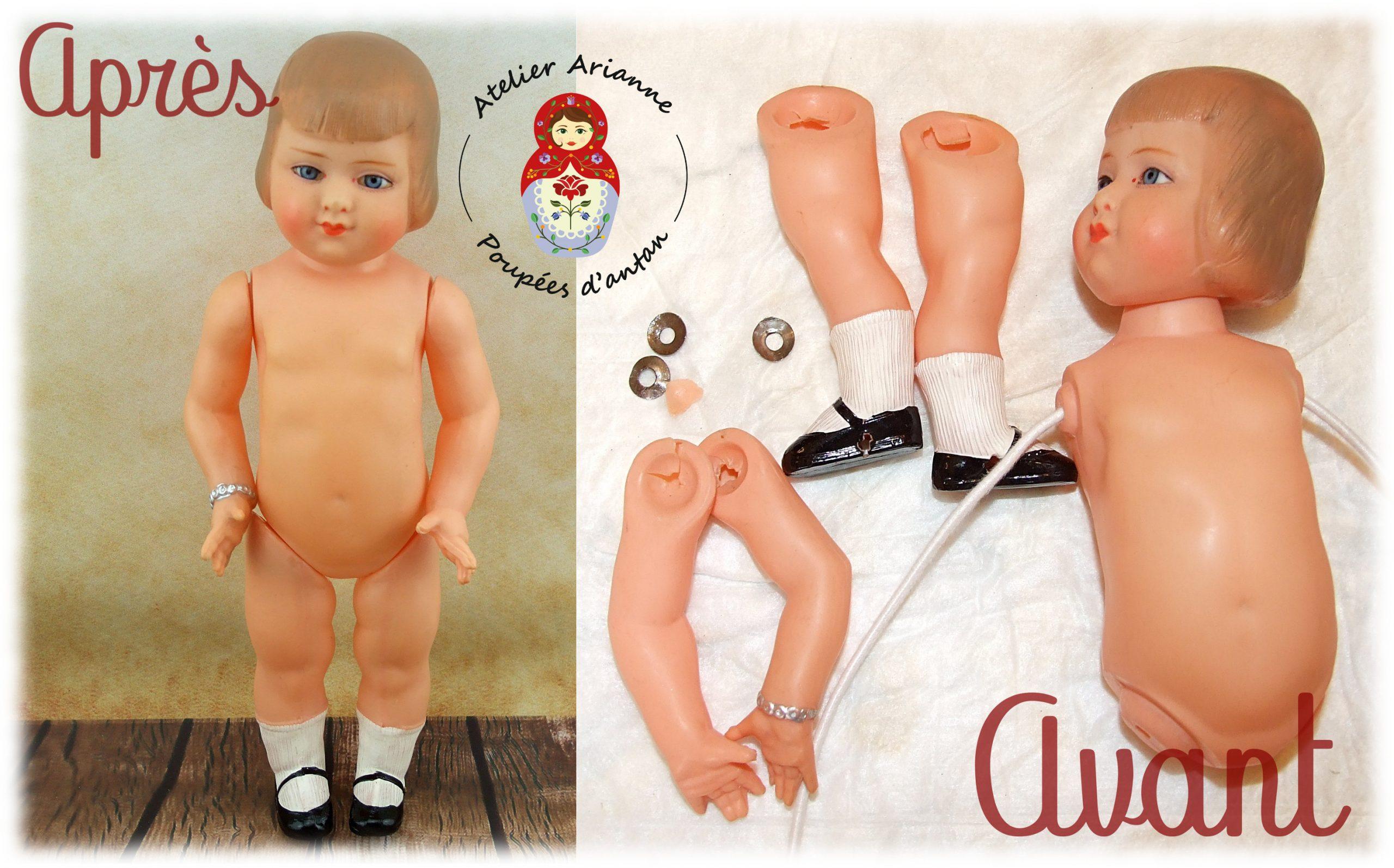 Clinique des poupées – Restauration Jeanne d'Arc 25cm