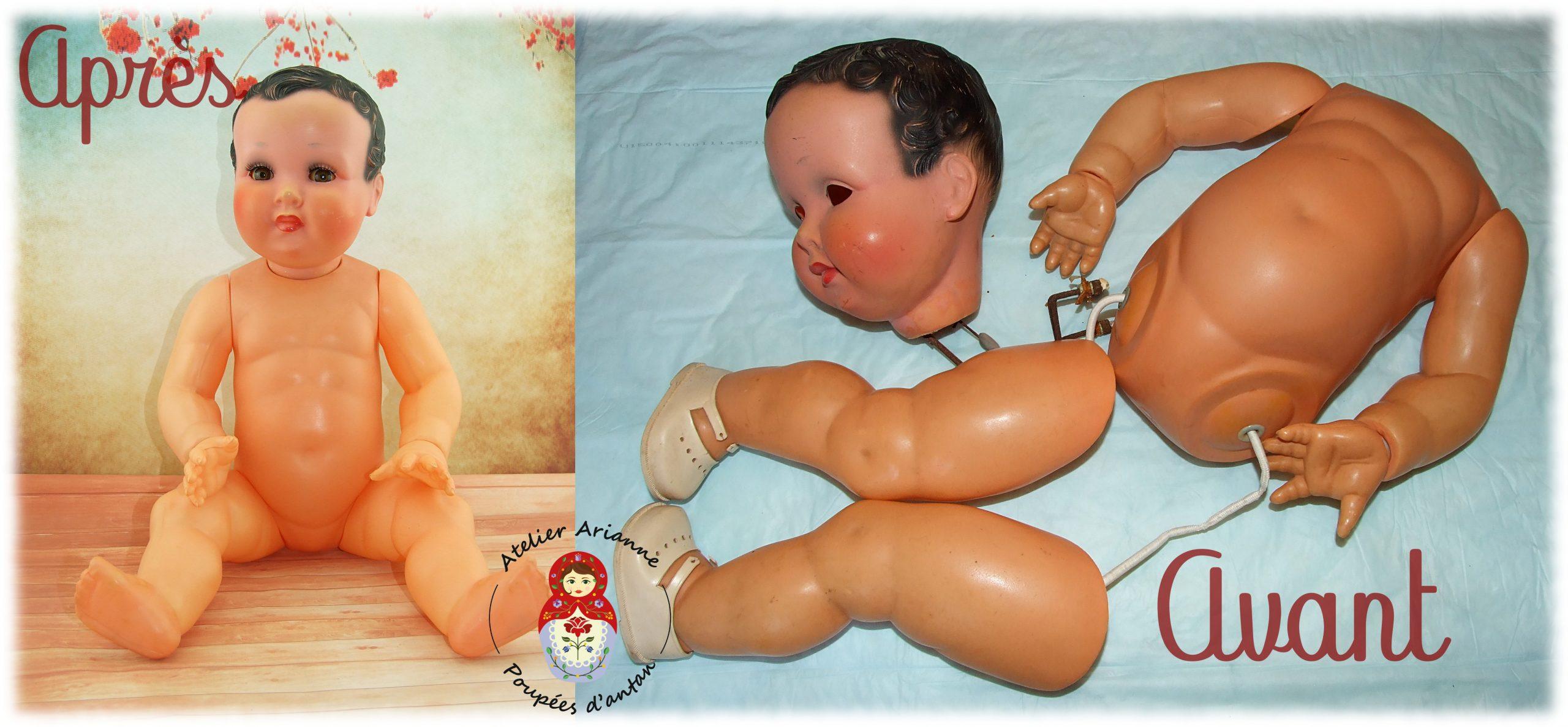 Clinique des poupées, restauration d'un baigneur Nano de Convert