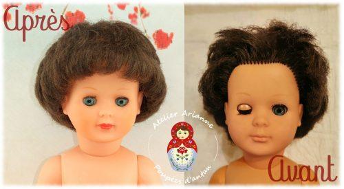 Clinique des poupées – Soin pour cheveux rêches et restauration des couleurs du visage de Marie-Françoise