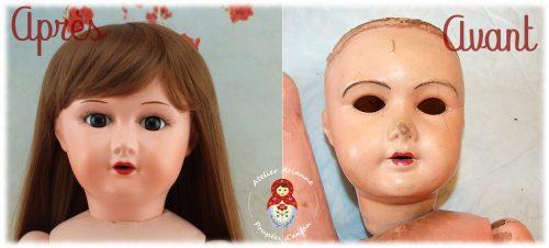 Clinique de poupées – restauration d'une poupée SFBJ 301 Paris
