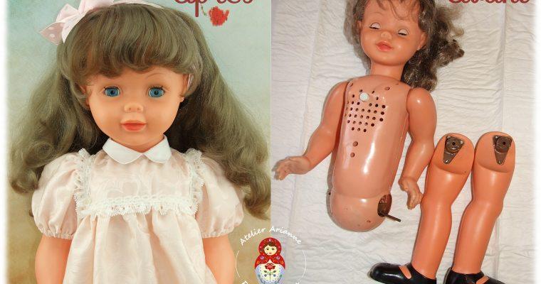 Clinique des poupées : restauration de la poupée Marielle de Bella et ses caractéristiques